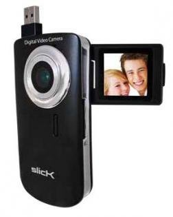 New Slick SimpleFlix VC100 Digital Video Camera with 4x Zoom and Flip Display (BLACK)