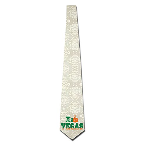 HANDSOMEFEEL I Love Vegas Neck Suits Tie Skinny Tie