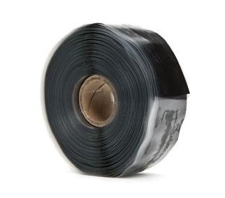 """Harbor Products F4Tapeblack F4 Tape Self-Fusing Silicone Tape 20 Mil Thick, 36' Length X 1"""" Width, Black"""