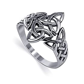 Marvelous .925 Sterling Silver Band Celtic Knot Ring