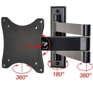 Articulating LCD LED TV Monitor Wall Mount 19 22 23 24 26 27 29 Tilt Bracket CE9 (19in Turntables For Shelves compare prices)