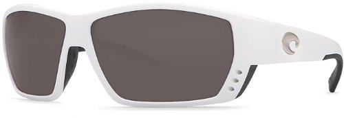 ddb39a00404f Costa del Mar Tuna Alley White with Gray Polarized 580G Lenses Sunglasses