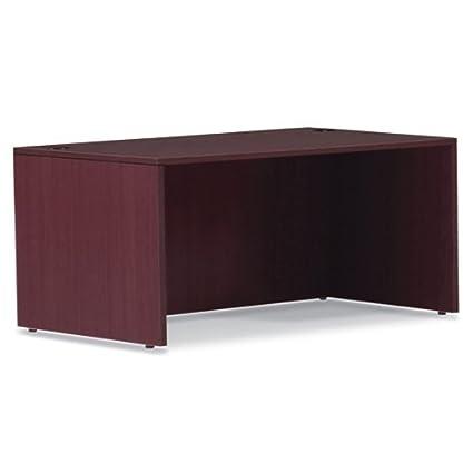 "Offices To Go SL7136DSAM 71"" Rectangular Desk Shell, 71""W x 36""D x 29-1/2""H, American Mahogany"