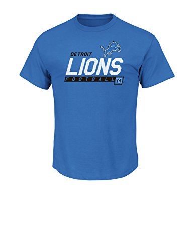 NFL Detroit Lions Men's Passing Game Program Short Sleeve Basic Tee, Small, Sport Blue (Detroit Lions Program compare prices)