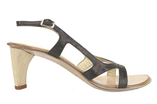 LATITUDE FEMME EU 38 sandali t. moro pelle AK120