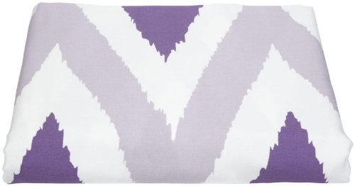 zicci bea Mia Flat Sheet Zig Zag- Twin- Purple