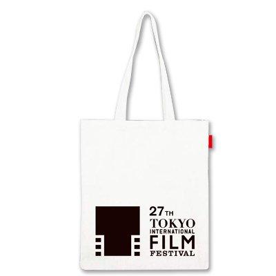 【劇場限定グッズ】 第27回東京国際映画祭 オフィシャルトートバッグ(白) 【るろうに剣心缶バッジ同封】