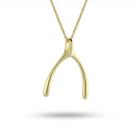 Gold Vermeil Wishbone Pendant