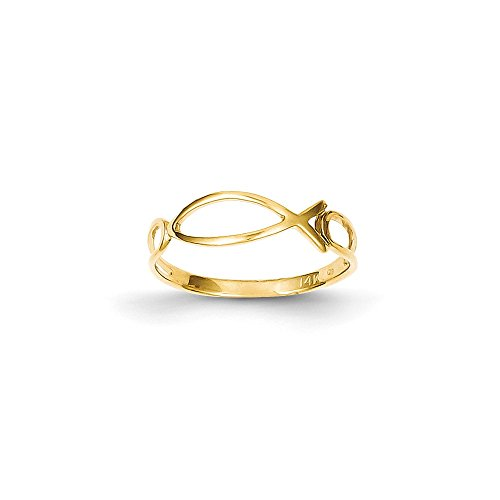 Yellow-gold-14k-Polished-Ichthus-Fish-Ring