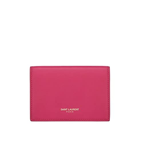 (サンローランパリ) Saint Laurent CLASSIC SAINT LAURENT PARIS BUSINESS CARD CASE IN Fog LEATHER (並行輸入品) LASTERR (Lipstick Fuchsia)