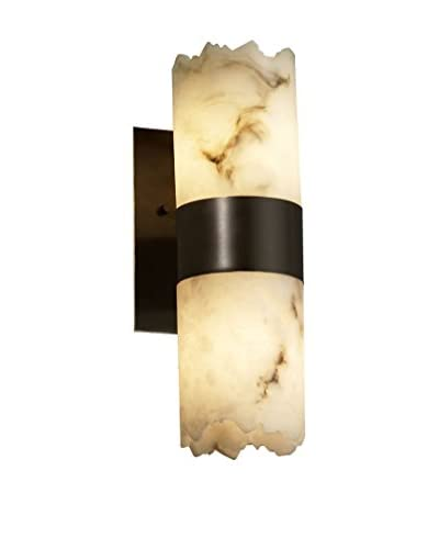 Justice Design Group LumenAria Up & Down Wall Sconce, Dark Bronze/Alabaster