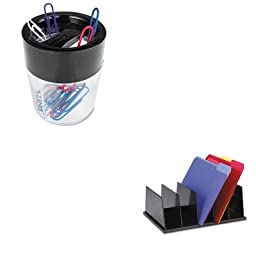 KITUNV08125UNV08126 - Value Kit - Universal Large Desktop Sorter (UNV08125) and Universal Magnetic Clip Dispenser (UNV08126)