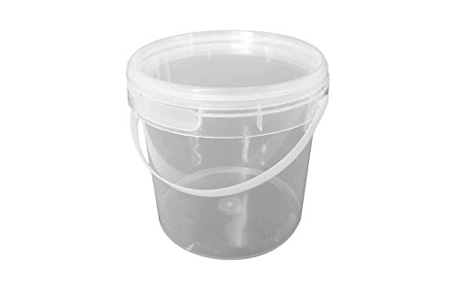 Choice-Pac 3So-1696 Polypropylene Round Bucket With Lid And Handle, Semi-Clear, 128-Ounce (Case Of 50)