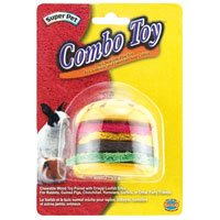 Super Pet ComboToy Wood Hamburger and Loofa Bites Small Anim