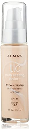 Almay TLC  Truly Lasting Color Makeup Ivory 120 1-Ounce Bottle