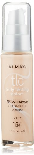 Almay TLC  Truly Lasting Color Makeup, Ivory 120, 1-Ounce Bottle