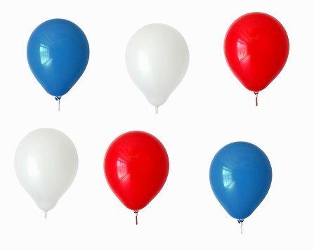 Luftballons – Blau / Weiß / Rot – 15 Stück Luftballons – Ballons als Fanartikel,Fußball, Deko, Party, Länder, Frankreich, Russland, Kroatien -für Helium geeignet – twist4®