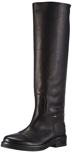 Shabbies AmsterdamShabbies 3,5cm heel sole Black 45cm high boot Farah - Stivaletti a gamba lunga mod. Classics, imbottitura leggera donna , Nero (Schwarz (Black 002)), 40