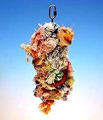 Buy Low Price Penn Plax Rope & Wood Preening Bird Toy for Parrots – Shaggy Kabob 10″ (BA932)