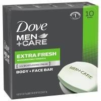 Dove Men+Care Extra Fresh Body + Face Bar, 4 oz, 4 oz