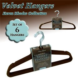 Karen Rhodes CollectionT - Velvet Hangers - Chocolate Color