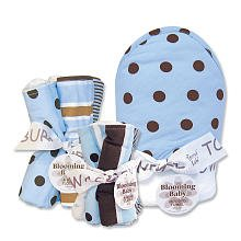 Trend Lab Max Baby 3 Pc Set w/ hooded bath towel, wash cloths, burp cloths