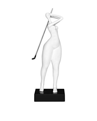 Arte dal Mondo sculptuur Giocatrice Di Golf Piccola