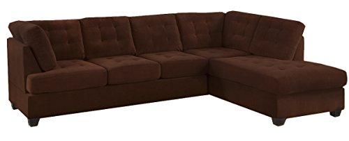 2 Piece Modern Reversible Microsuede Sectional Sofa