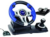 Logic3 Blue Steering Wheel and Pedals (PC/PS2/PS3)