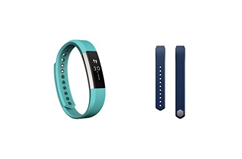 Fitbit Alta (Teal, Small) + Accessory Band (Blue, Small)
