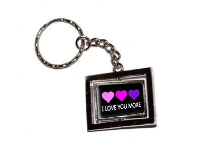 online deal I Love You More With Three Hearts - New Keychain Ring