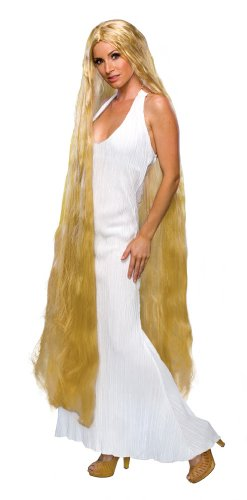 Bargain Curly Blonde Godiva Rapunzel Wig - Blonde