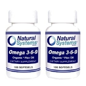 Natural Systems 2 Pack Omega 3 6 9 100 Softgels Cardiovascular Brain Health