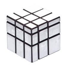 Silver Black Mirror Cube 3x3x3