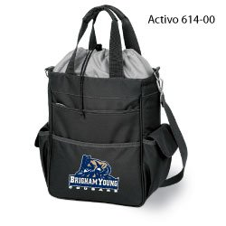 "Brigham Young Cougars NCAA ""Activo"" Waterproof Tote (Black) (Digital Print Logo)"