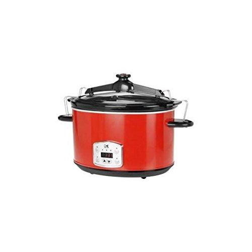 Kalorik Cooker (Kalorik Red 8 Qt Digital Slow Cooker with Locking Lid) (Locking Lid Slow Cooker compare prices)