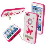 MYBAT VERGE Hybrid Protector Cover with Stand for iPhone 6 - Retail Packaging - Butterfly Dancing/Hot Pink