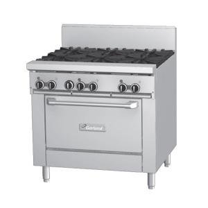 """Natural Gas And 120V Garland Gfe36-G36R 36"""" Gas Range With Flame Failure Protection, 36"""" Griddle, An"""
