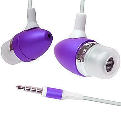 Premium Purple 3.5Mm Aluminum Handsfree Stereo Headset Headphone Earphone With Built-In Microphone Remote For Apple Ipod Touch Itouch 2Nd 3Rd Gen Iphone 3G 3Gs Zune Mp3 Player Pda