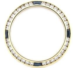 1ct Diamond Sapphire Bezel Made for Ladies Rolex 18ky