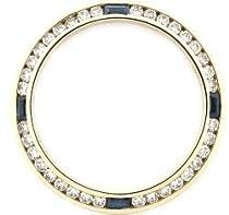 1ct Diamond Sapphire Bezel Made for Ladies Rolex 18ky