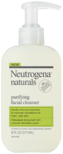 Neutrogena Naturals Purifying Facial Cleanser, 6 fl. ozs, (Pack of 2)