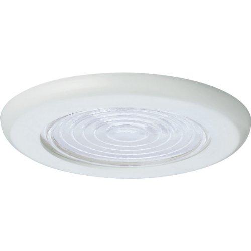 Progress Lighting P8011-60 Fresnel Light Ul/Cul Listed For Damp Locations 7-3/4-Inch O D, White
