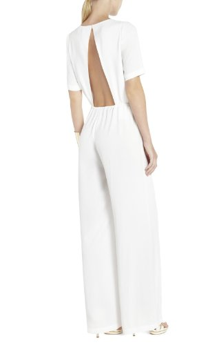 bcbg-maxazaria-white-3-4-sleeve-open-back-jumpsuit-size-small-s