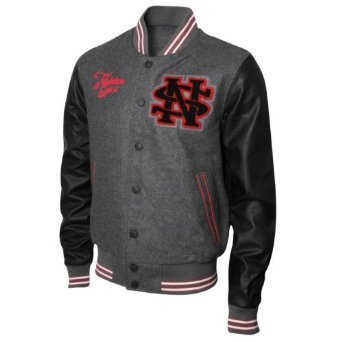 Nickelson Mens NMF0010 Quilted Melton Baseball Jacket