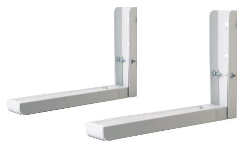 Generic Up To 60Kg Microwave L Shaped Wall Brackets White