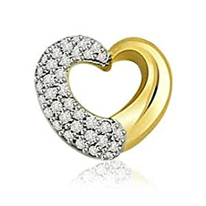 Surat Diamonds P-350 0.50 Ct Diamond Classic Heart Pendant