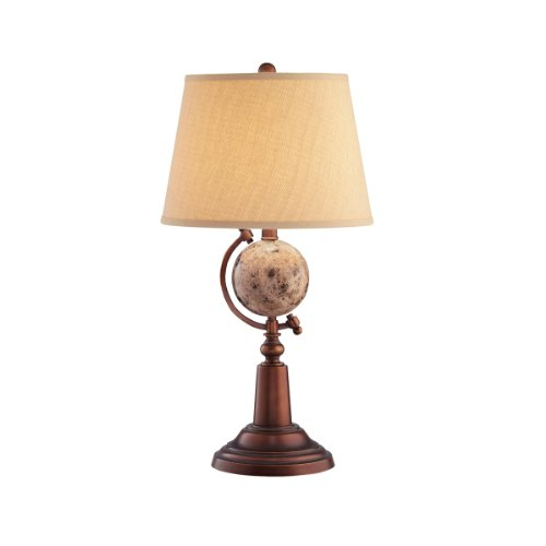 Kichler Lighting 70495 Collage Burnished Copper 31-Inch Portable Table Lamp, Khaki Linen Hard Back Shade