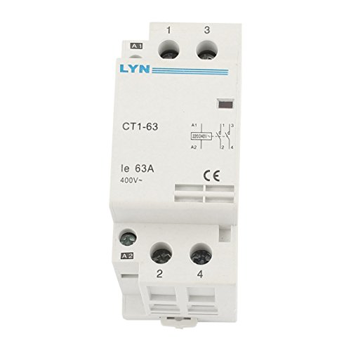CT1-63/2P Household 2-Phase Pole AC Contactor Coil 220/240V Ie 63A 2 Pole Contactor Type