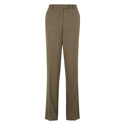 Womens Antonio Fusco Light Brown Wide Leg Trouser Ladies (10 - Brown)